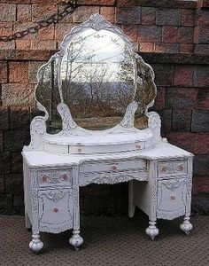 This is absolutely gorgeous!   Vanity Dresser ~ Shabby Vintage Chic Furniture Accessories VPU