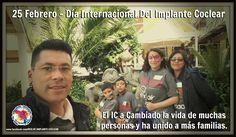 25 Febrero - Día Internacional Del Implante Coclear. Celebremos juntos la emoción de como el Implante Cochlear ha Cambiado la vida de muchas personas y ha unido a más familias. #RedICMex #CochlearImplant #Cochlear #DiaIC2017 #CIday2017 Síguenos en: http://noemiastorga.blogspot.mx/ http://redimplantecoclear.blogspot.mx/ http://www.youtube.com/user/frankastorga74 https://www.facebook.com/RED.DE.IMPLANTE.COCLEAR?ref=hl https://plus.google.com/+RedDeImplanteCoclear/posts