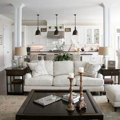 Living Design Ideas, Pictures, Remodel and Decor - open kitchen/living room layout (save for future home!)