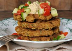 Vegan Falafel Waffle