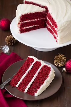 Red Velvet Cake with Cream Cheese Frosting Cooking Classy, Red Velvet Cake with White Chocolate Cream Cheese Frosting, Red Velvet Layer Cak. Blue Velvet Cakes, Bolo Red Velvet, Red Velvet Wedding Cake, Food Cakes, Cupcake Cakes, Cake Icing, Best Cake Recipes, Dessert Recipes, Icing Recipes