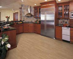 Natural cherry in kitchen