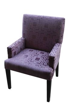 Fletcher Swoop-Arm Chair, Lavender | Purple Dining Chairs ...
