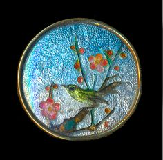 Image Copyright by RC Larner ~ Late 19th C. Japanese Gin Bari Cloisonne Enamel in Brass ~ R C Larner Buttons at eBay & Etsy        http://stores.ebay.com/RC-LARNER-BUTTONS and https://www.etsy.com/shop/rclarner
