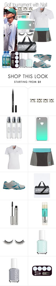 """""""Golf tournament with Niall"""" by fashion-onedirection ❤ liked on Polyvore featuring M&S, Maison Margiela, Byredo, Puma, NIKE, Callaway, Stussy, By Terry, Rimini and Essie"""
