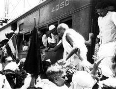 Gandhi arrives in Bombay on October for talks with Mohammad Ali Jinnah, leader of the Muslim League. Mahatma Gandhi, October 5, Black And White, Pictures, Photos, History, Persona, Muslim, Ali