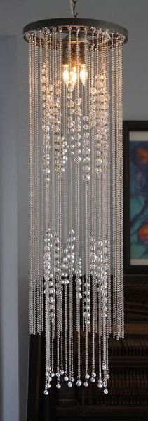 Trade Only Design :: Bodhi Chandelier from Chandi :: Rustic Finish with Metal Ball Chain and Clear Crystal