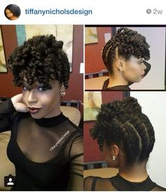 Back to front chunky two strand twist + curly bang
