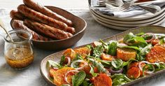 Create a new weeknight favourite with Curtis Stone's chargrilled beef sausages and sweet potato salad.