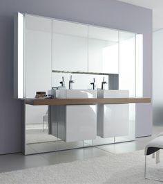 Neidlose Anerkennung für dieses schöne Konzept. Duravit - Bad Serie: Mirrorwall - Badmöbel von Duravit.