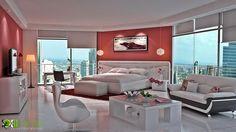 Yantram 3D Architectural Design Studio - 3D Bedroom Interior Rendering Studio