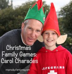 Christmas Family Games #2- Christmas Carol Charades with a Twist - last time we played this my cheeks hurt from all the laughing