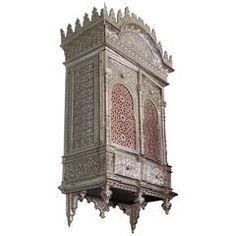 Signed Alhambra Bronze Wall Cabinet / Torah Ark Islamic Nasrid Moorish