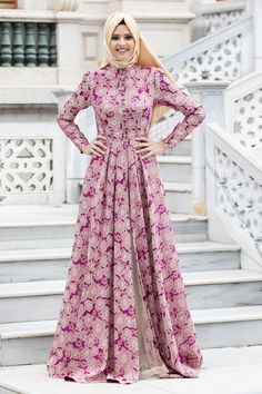 Puane - Mürdüm Abiye Elbise Ball Dresses, Bridal Dresses, Evening Dresses, Muslim Dress, Hijab Dress, Frocks And Gowns, Maxi Skirt Style, Hijab Fashion Inspiration, Islamic Fashion