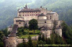 Hohenwerfen Castle, above the Salzach Valley, Austria