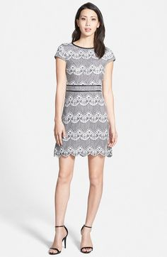 kensie+Colorblock+Lace+Panel+Dress+available+at+#Nordstrom