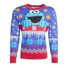 Sesame Street Christmas sweater Cookie Monster Christmas Multicolours West Yorkshire, Monster Hunter, Elmo, Overwatch, Christmas Knitting, Christmas Sweaters, Cookie Monster T Shirt, Sesame Street Christmas, Children Sketch