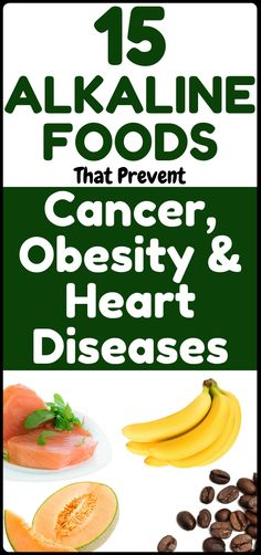 15 Alkaline Diet Foods that Prevent Heart Disease, Obesity and Cancer - Health Care & Fitness Tips Alkaline Diet Recipes, Raw Food Recipes, Healthy Tips, Healthy Recipes, Healthy Foods, Healthy Women, Stay Healthy, Healthy Heart, Healthy Drinks