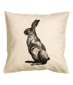 Rabbit pillow from HM home Linen Pillows, Bed Pillows, Cushions, Living Room Pillows, Home Living Room, Hm Home, Bed Curtains, Linens And More, Rustic Room