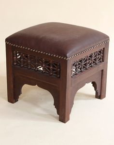 Moroccan Moucharabieh Square Stool in Brown Likey!!;)