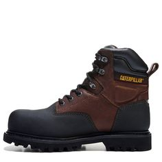 Caterpillar Men's Creston Medium/Wide Composite Toe Work Boots (Oak Leather) - W Composite Toe Work Boots, Shoe Designs, Steel Toe Boots, Goodyear Welt, Caterpillar, Fashion Boots, Hand Guns, Designer Shoes, Hiking Boots