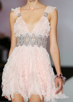 Mini- floaty pink dress***