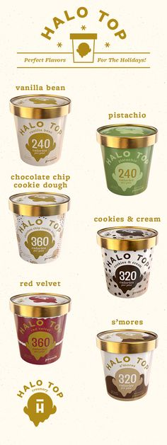 because the holidays are better with Halo Top Ice Cream. Keep cool and get your healthy pint on by the fireside with one of our NEW flavors. Scoop it up today! Healthy Desserts, Just Desserts, Healthy Eats, Healthy Foods, Delicious Desserts, Yummy Food, Sugar Free Recipes, Top Recipes, Skinny Recipes