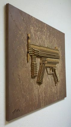 Items similar to Heckler & Koch on Etsy Bullet Casing Crafts, Bullet Crafts, Ammo Art, Gun Art, Bullet Art, Bullet Shell, Ammo Crafts, Diy And Crafts, Shotgun Shell Crafts