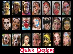Free Face Painting Designs | Re: Super fast face paint designs