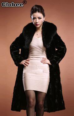 THICK & PLUSH SIZE LARGE FULL LENGTH SHEARED BEAVER FUR COAT | Fur ...