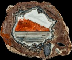 Thundereggs are nodular rhyolitic formations which can have hollow cavities and can contain a star, triangle, or lens shaped interior. Minerals And Gemstones, Crystals Minerals, Rocks And Minerals, Stones And Crystals, Gem Stones, Cool Rocks, Beautiful Rocks, Weird Drawings, Gem Shop
