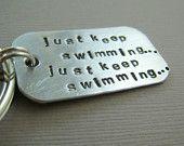 My triathlon mantra!   Hand-stamped silver keytag from www.etsy.com/shop/CandidGrace