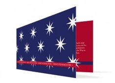 wundervolle Karte zu Weihnachten Big Stars blau/rot