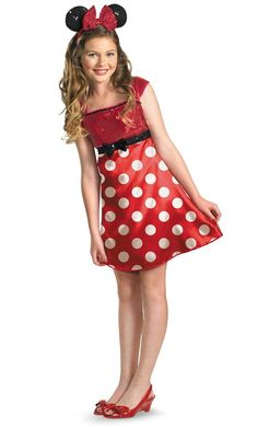 disney mickey mouse clubhouse red minnie mouse child tween costume - Halloween Costumes Elmo