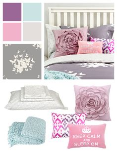 Cute color scheme for dorm @Kalee Bailey  what do you think of this color scheme? I think it's so cute.