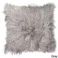Brands Mongolian White Sheepskin Pillow (