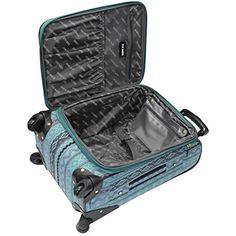 Steve Madden Luggage Legends Exp Spinner - Blue Softside Carry-On NEW Suitcase Set, Spinner Suitcase, Best Luggage, Carry On Luggage, Luggage Brands, Luggage Sets, Travel Set, Travel Style, Designer Luggage