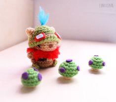 Chibi Teemo cute amigurumi character from por LunaticparkEtsy