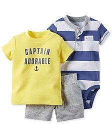 Carter's Baby Boys' 3-Piece Captain Adorable T-Shirt, Bodysuit & Shorts Set