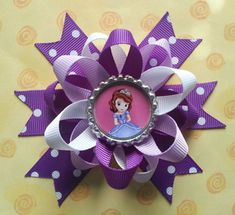 Sofia the first hair bows also available for monkey by bellecaps, $3.75