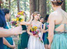 santa cruz mountains bridal party via Gather West Photography