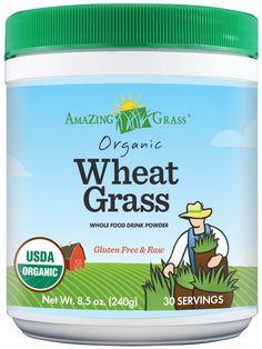 Amazing Grass Organic Wheat Grass Powder. #glutenfree