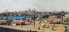 Galata Köprüsü (1950'li yıllar) #istanbul