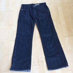 Gap, Slightly Cuffed Jeans Dark wash, boot cut jeans with a very small cuff. Worn a few times. Perfect condition. Size12R. GAP Jeans