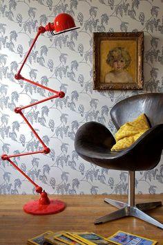 Arne Jacobsen (swan) + Jieldé Rouge