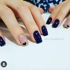 Chic Nails, Classy Nails, Stylish Nails, Simple Nails, Cute Acrylic Nails, Gel Nails, Nail Polish, Nagellack Design, Nail Art Designs Videos