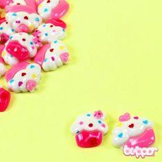 Cupcake cabochon craft supplies - 5pcs