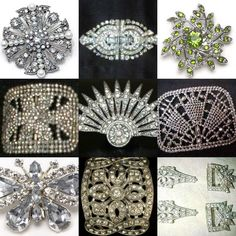 So glam!! Vintage Shoe Clips. Yum.