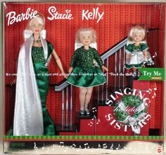 I STILL HAVE THIS IN THE BOX Holiday Singing Sisters Barbie® Doll, Kelly® Doll and Stacie® Doll