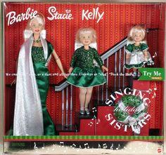 Holiday Singing Sisters Barbie® Doll, Kelly® Doll and Stacie® Doll Barbie 2000, Baby Barbie, Mattel Barbie, Barbie Sets, Barbie Sisters, Barbie Family, Beautiful Barbie Dolls, Vintage Barbie Dolls, Christmas Barbie Dolls